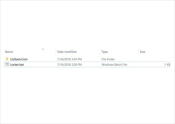 Bước 5: Tạo folder riêng tư
