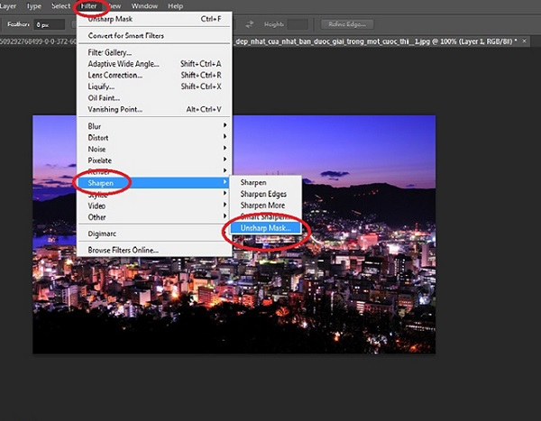 Cách tăng độ nét của ảnh bằng photoshop CS6