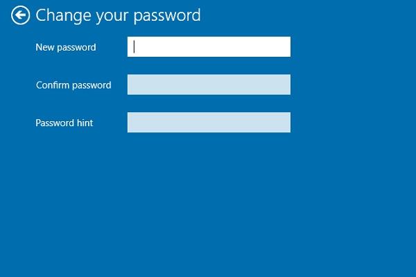Không nhập bất kỳ thông tin nào vào ba ô trống này để gỡ bỏ mật khẩu