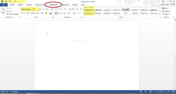 Tạo mục lục tự động trong Word 2013 cực kỳ đơn giản