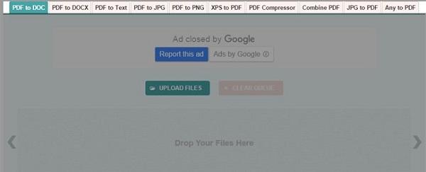 Bước 1: Truy cập vào website PDF to DOC và chọn phương thức chuyển đổi PDF to DOC.
