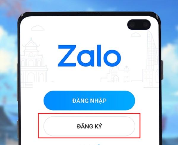 Đăng nhập vào ứng dụng Zalo mới tải về