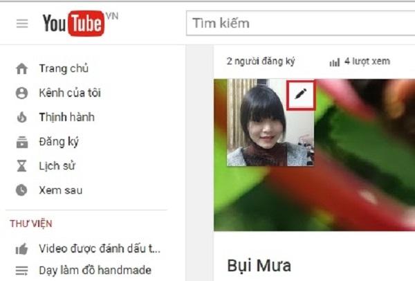 Đổi ảnh đại diện cho kênh Youtube