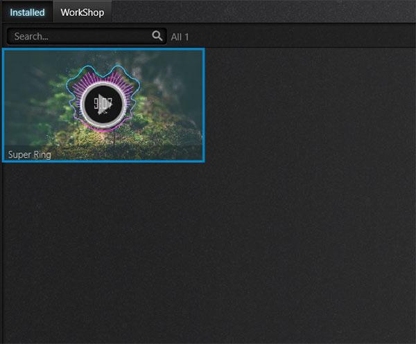 Super Ring - kiểu sóng nhạc mặc định khi sử dụng X Music Visualizer