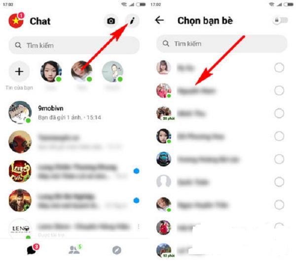 Tạo nhóm trên Messenger