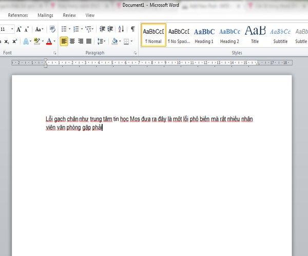 Gạch đỏ thường xuất hiện khi bạn soạn thảo văn bản bằng tiếng việt