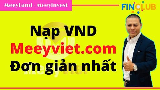 Bạn có thể chọn nạp Meeyland qua cổng Meeyviet.com