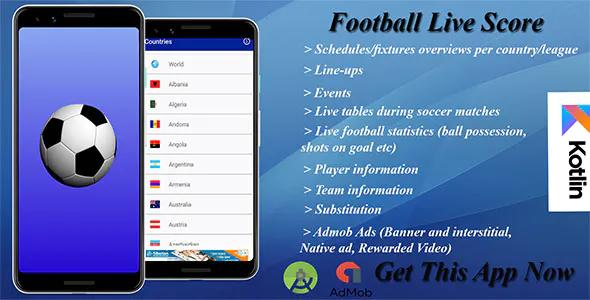 Ứng dụng Live Football TV App & Score
