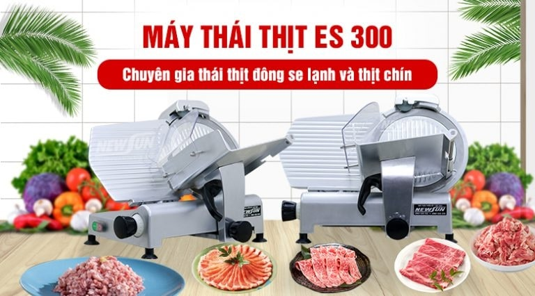 (Máy thái thịt đông lạnh ES 300 là sản phẩm được nhiều quán kinh doanh lựa chọn)
